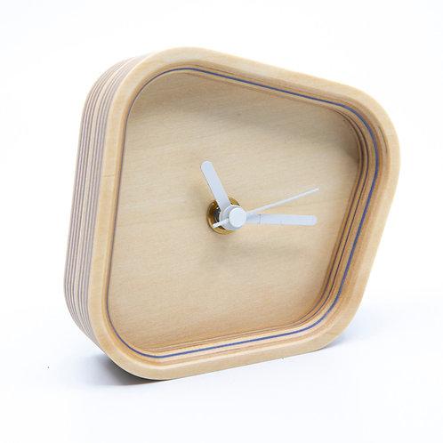 Blue Striped Desk Clock by Takizawa Plywood Labratory