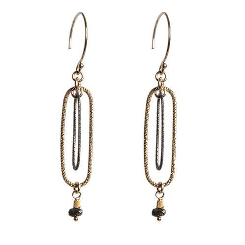 Black Diamond Earrings by Tracy Arrington