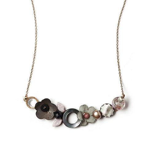 Rusted Petals Necklace by Elements Jill Schwartz