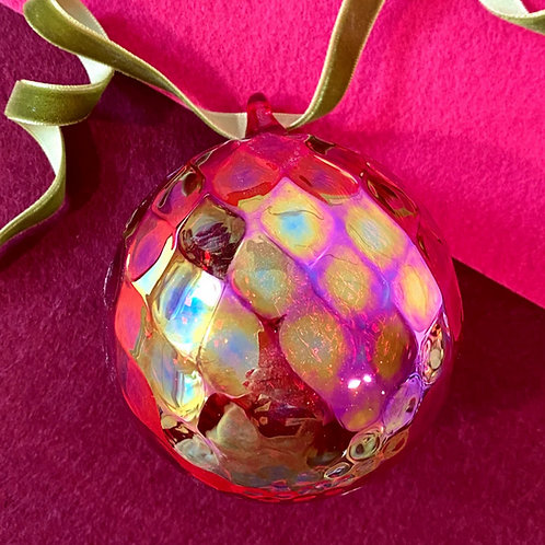 Garnet Ornament by Glass Eye Studio
