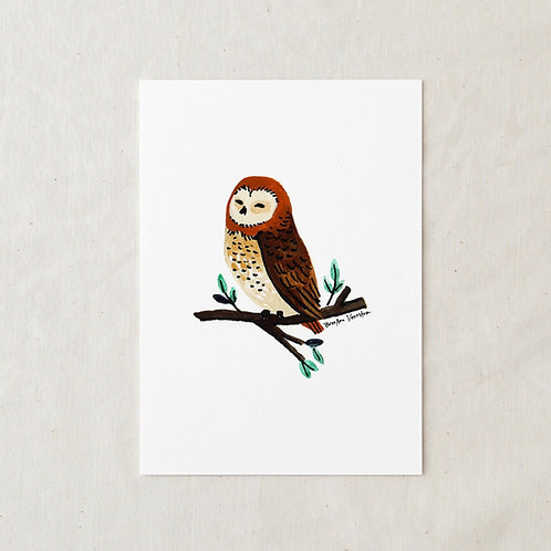 5 x 7 Owl Art Print by Wildship Studio