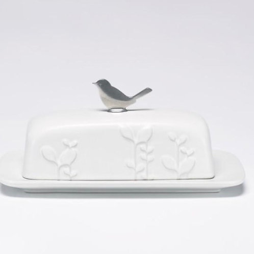 Laurel Ceramic Butter Dish by Beehive Handmade