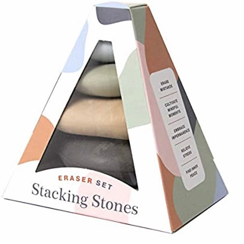 Stacking Stones Eraser Set