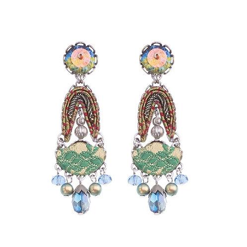 Fiesta Green Nisha Earrings by Ayala Bar H1348