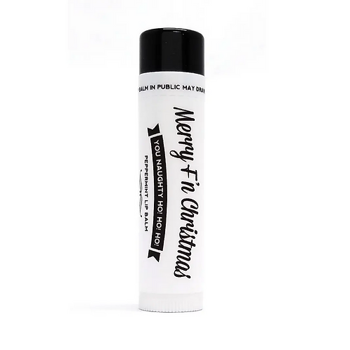 Merry F'n Christmas Peppermint Lip Balm by Ms. Betty's Original
