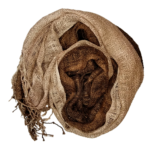 Bronze Wabi Silk Scarf by Rubyzaar