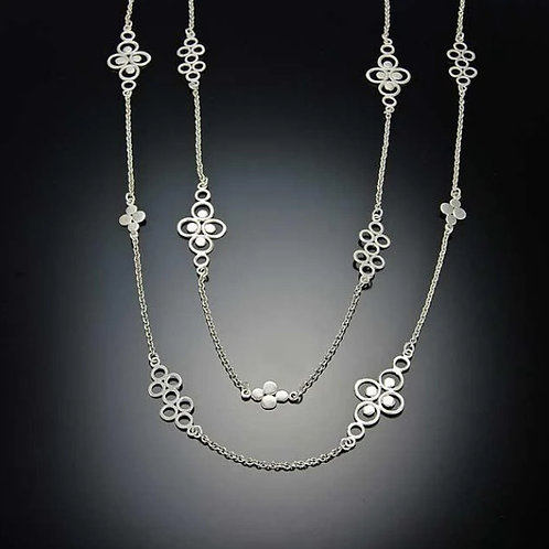 Silver Filigree Chain Necklace
