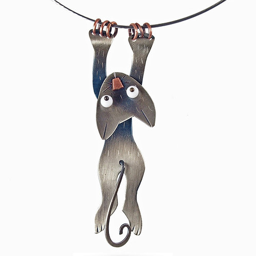 Hang In There Necklace by Chickenscratch