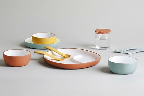 Children's Bowl and Plate Set by Kinto