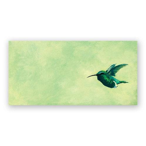 12 x 6 Hummingbird Panel Wings on Wood by The Mincing Mockingbird