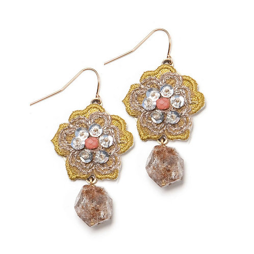 Guilded Geranium Earrings by Elements Jill Schwartz