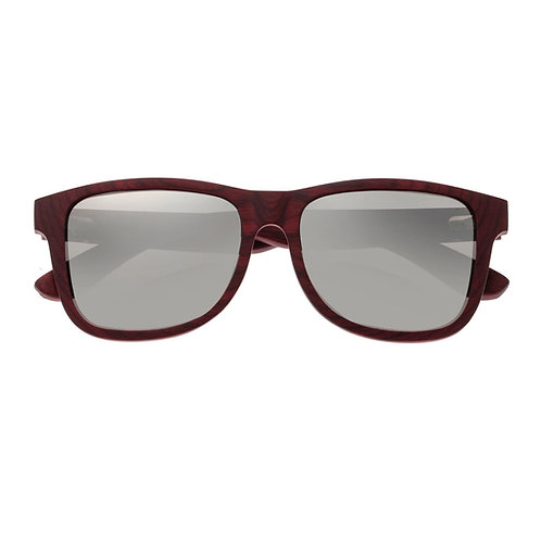 Solana Rose & Ebony Wood Square Sunglasses by Earth Wood