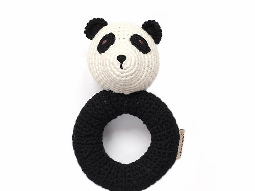 Panda Crocheted Ring Rattle by Cheengoo