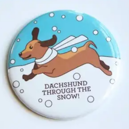 Dachsund Through the Snow Pin by Tiny Bee