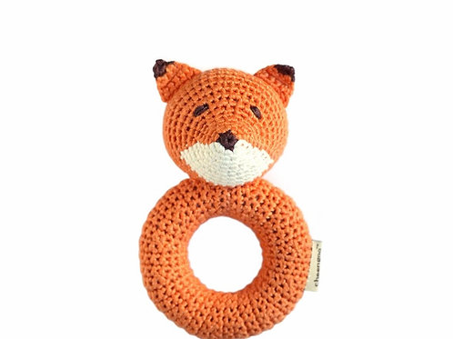 Fox Crocheted Ring Rattle by Cheengoo