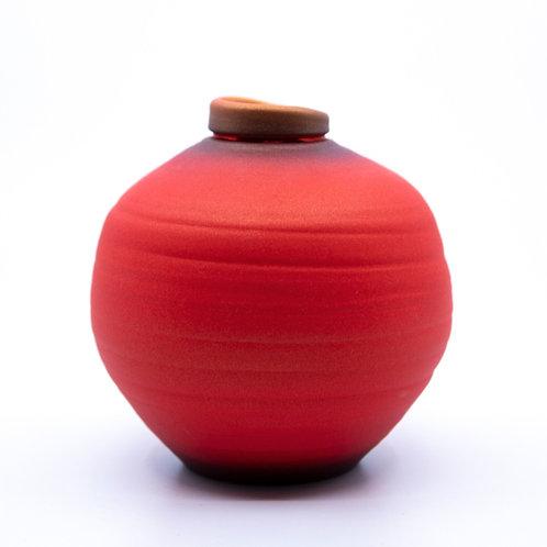 Small Red Pot by Tom Krueger