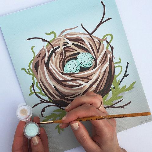Bird's Nest Paint-by-Number Kit by Elle Crée
