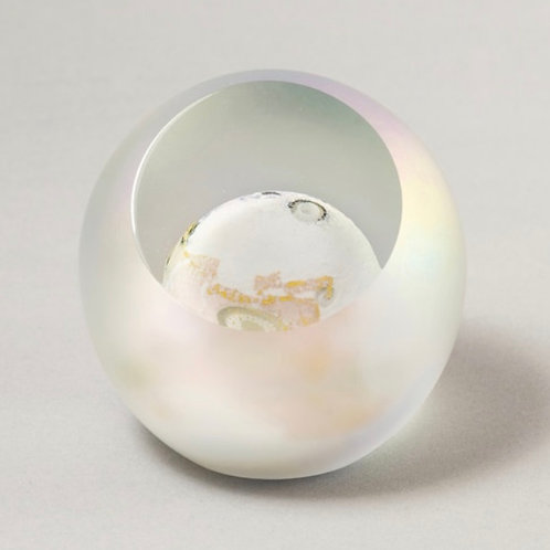 The Moon - Celestial Series Glass Paperweight by Glass Eye Studios