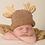 Thumbnail: Newborn Reindeer Beanie Hat by Huggalugs