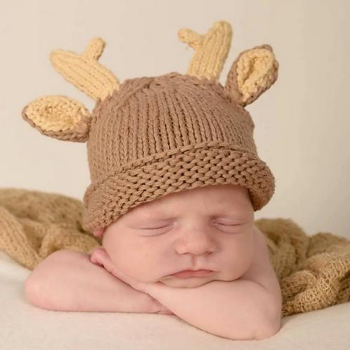 Newborn Reindeer Beanie Hat by Huggalugs