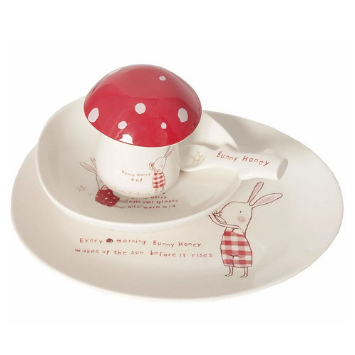 Bunny Honey Melamine Set by Maileg