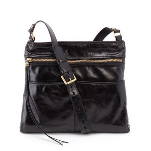 Angler Crossbody Bag in Black by HOBO