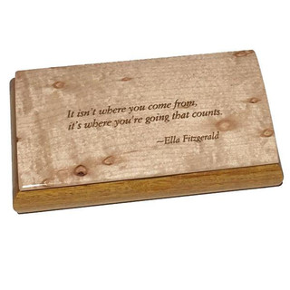 Quote box by Mikutowski Woodworking