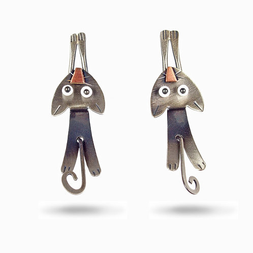 Hang In There Earrings by Chickenscratch