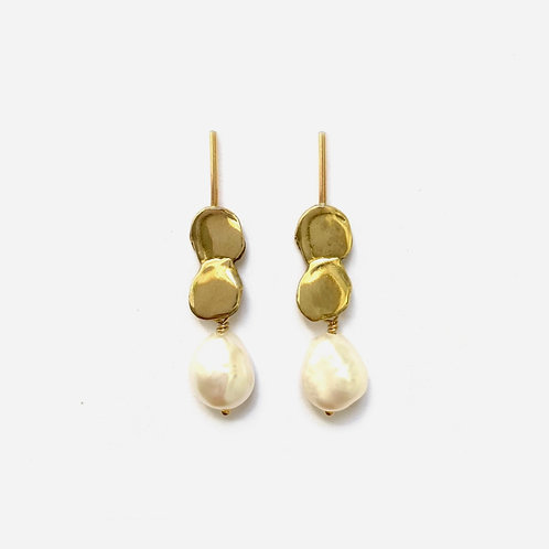 Allegory Earrings with Pearls by Goldeluxe Jewelry
