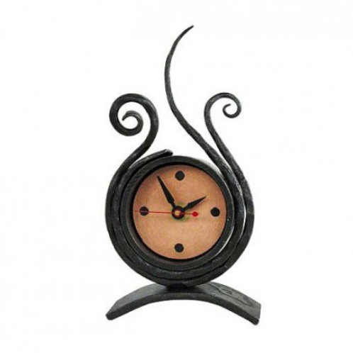 Medium Iron & Copper Clock #133 by Blackthorne Forge