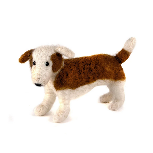 Hand Felted Wool Dog Ornament by Mayan Hands