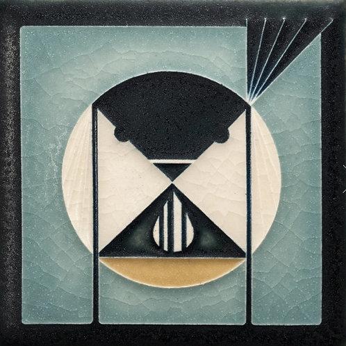 4x4 Seed Bandit Tile by Charley Harper for Motawi Tileworks