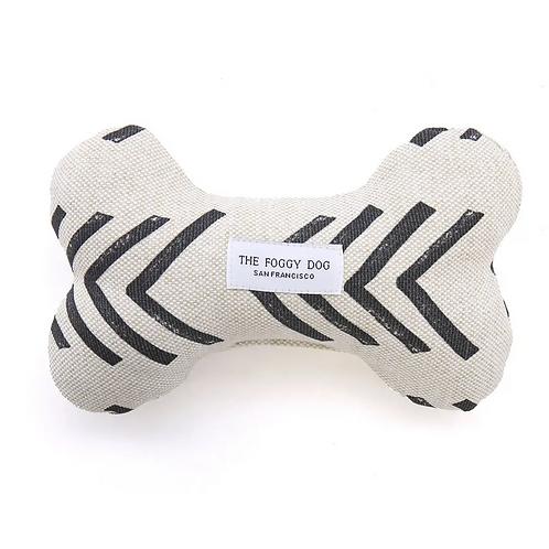 Modern Mud Cloth Dog Bone Squeaky Toy by Foggy Dog
