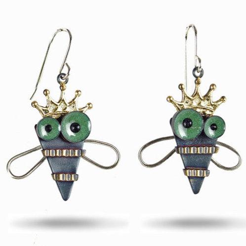 Queen Bee Earrings by Chickenscratch