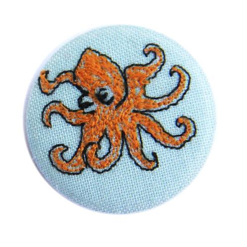 Octopus Badge by Poppy Treffrey