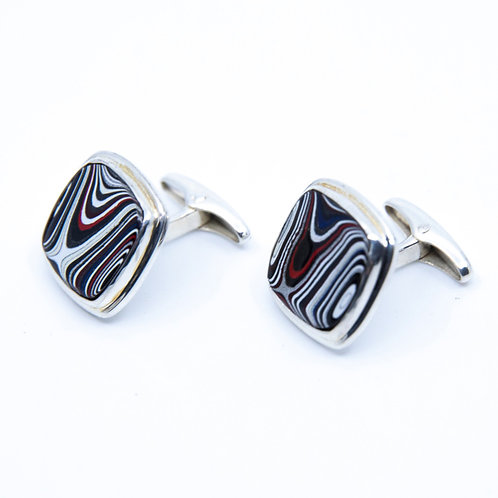 Fordite Cufflinks by Starborn Creations