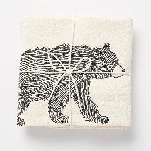 Bear Flour Sack Towel by SKT