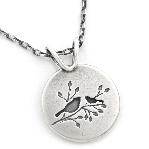 Summer Songbird Duet Pendant by Beth Millner