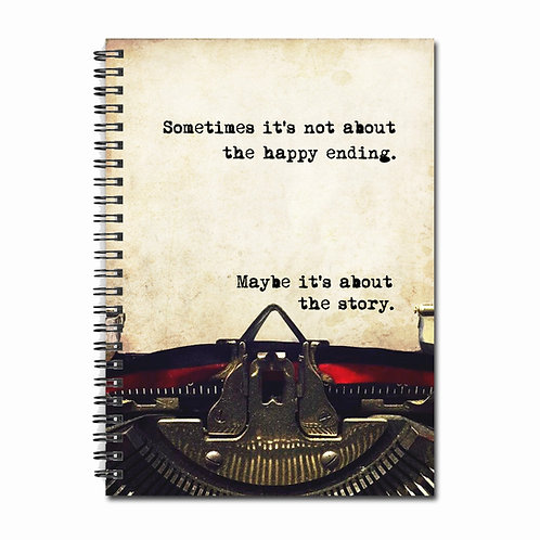 'Maybe It's About The Story' Notebook by Fly Paper Products