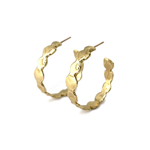 Large Reverie Hoops by Goldeluxe Jewelry
