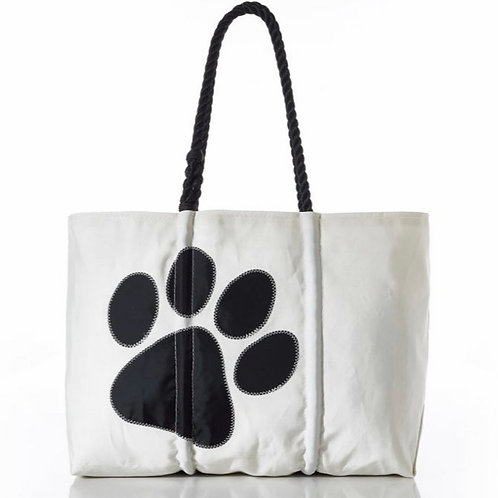 Paw Print Tote by Sea Bags Maine