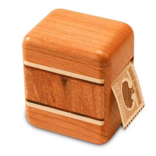 Burl Maple Cherry Stamp Box by Heartwood Creations