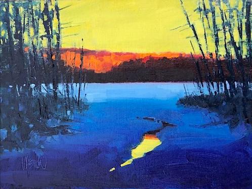 "'Open Water' 9"" x 12"" Oil on Canvas by Stephen Wysocki"