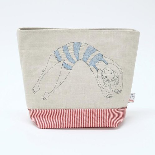 Bathing Beauty Emroidered Wash Bag by Poppy Treffry