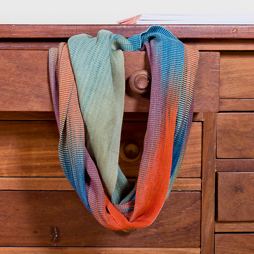 Handwoven Bamboo Weave Infinity Scarf by Altiplano-Southwest