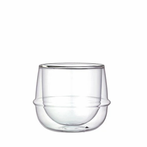 Kronos Double Wall Wine Glass by Kinto