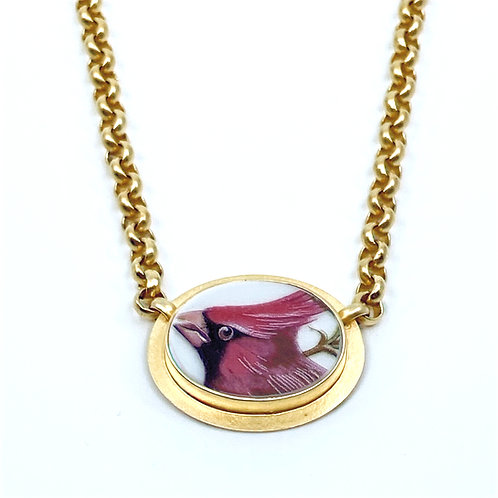 Cardinal Porcelian Necklace by Amy Faust