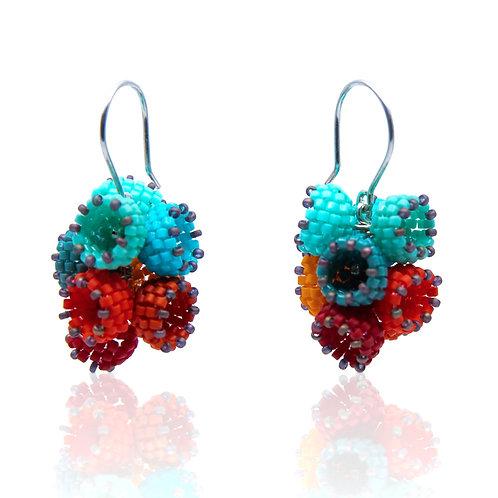 Basket Bunch Earrings by Claudia Fajardo