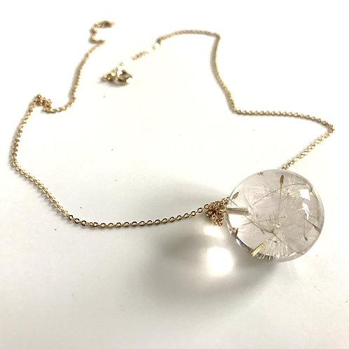 Eco-Resin Sphere Dandelion Pendant by Belart