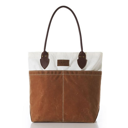 Chebeague Medium Tan Tote with Sail Cloth by Sea Bags
